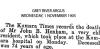 Henham - John B - Death Notice