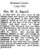 Bignell - Mary Ann - Obituary