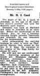 Gurd - James Henry - Obituary
