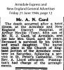 Gurd - Arthur Neville - Death Notice