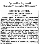 Tyrie - George and Mary Alma - Divorce
