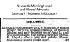 Rinker - William Henry - Death Notice