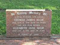 Algie - Thomas James and Elizabeth Jane