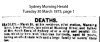 Bradley - Joseph - Death Notice