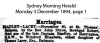 Bradley - Lacey - Rowland Robert and Winifred Elizabeth - Marriage Notice