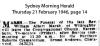 Marsh - Rev. William Albert - Funeral Notice