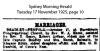 Bradley - Penfold - Robert Arthur and Eleanor Edith - Marriage Notice
