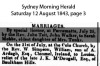 Ardagh - McDougall - William and Louisa - Marriage Notice