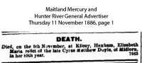 Doyle - Elizabeth - Death Notice