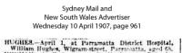 Hughes - William - Death Notice