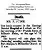 Joyce - Francis - Death Notice