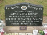 Dawson - Sylvia Mavis and Herbert Alexander