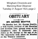 Beattie - George - Death and Funeral Notice