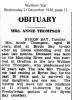 Thompson - Annie - Obituary
