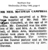 Campbell - Neil McCowan - Death and funeral notice