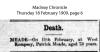 Meade - Patrick - Death Notice