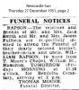 Rapson - William - Funeral Notice