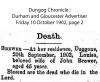 Brewer - Louisa - Death Notice