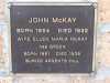 Memorial Plaque - McKay - John and Ellen Maria