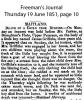 Griffiths - James - 1851 Inquest
