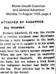Gambrill - Richard - Attacked by kangaroo.
