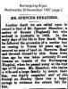 Sheather - Spencer - Obituary