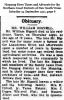 Bignell - William - Obituary