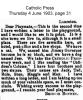 Bonney - Bridge - Letter to the Catholic Press