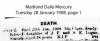 Logue - Ida Clare - Death Notice