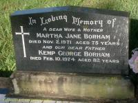 Borham - Martha Jane and Kemp George