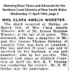 Wooster - Clara Amelia - Obituary