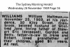 Williams - William Heitman - Death Notice