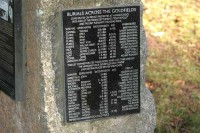 Memorail plaque at Hanging Rock Historic Cemetery