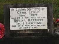 Tout - Cyril Leslie and Langham - Rosina Harriett