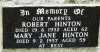 Hinton - Robert and Mary Jane
