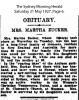 Obituary - Zucker - Martha