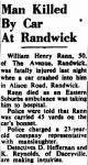 Rann - William Henry - Death