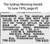 Robinson - Ida May - Funeral Notice