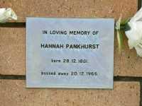 Pankhurst - Hannah