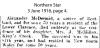 McDermid - Alexander - Death Notice