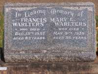 Warlters - Francis and Mary E