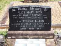 Dick - Alice Mary and Thelma Eileen
