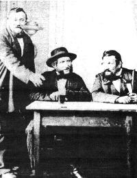 Zucker - Johann Christian - seated centre with friends