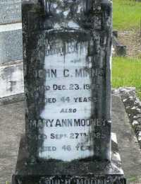 Minns - John Creighton and also Mooney - Mary Ann