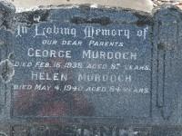 """MURDOCH-George and Helen """"Ellen"""" MURDOCH (BLACK)"""