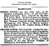 Pennefather - Fullagar - Marriage Notice