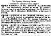 Funeral Notice - Valentine - Joshua 1875