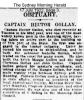 Gollan - Captain Hector - Obituary