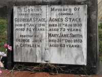 Stace - George Alfred and Agnes also Mary Jane Smith