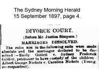 Giblet - Hibbard - Divorce